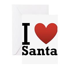I Love Santa Greeting Cards (Pk of 20)