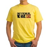 Dark Side of Cake Yellow T-Shirt