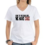 Dark Side of Cake Women's V-Neck T-Shirt
