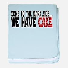 Dark Side of Cake baby blanket