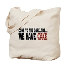 Dark Side of Cake Tote Bag