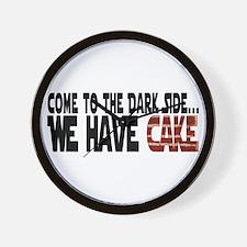 Dark Side of Cake Wall Clock