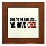 Dark Side of Cake Framed Tile