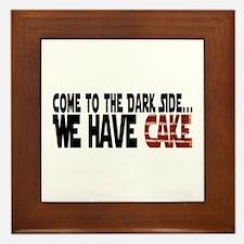 Dark Side of Cake Framed Tile