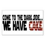 Dark Side of Cake Sticker (Rectangle)