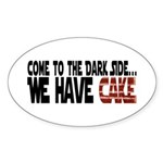 Dark Side of Cake Sticker (Oval 50 pk)