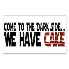 Dark Side of Cake Decal