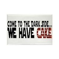 Dark Side of Cake Rectangle Magnet