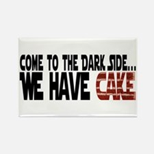 Dark Side of Cake Rectangle Magnet