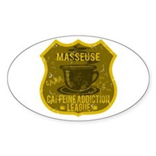 Masseuse Caffeine Addiction Decal