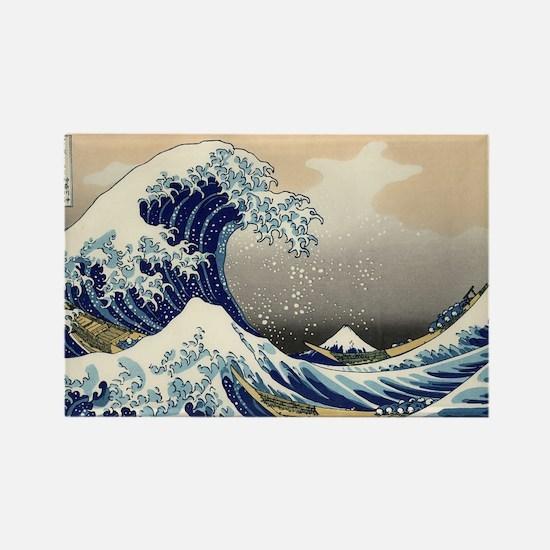 Katsushika Hokusai Rectangle Magnet