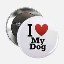 """I Love My Dog 2.25"""" Button (100 pack)"""