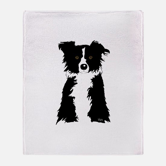 Unique Border collies Throw Blanket