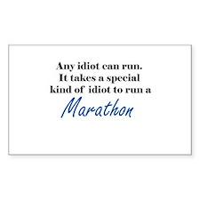 Idiot to run marathon Decal