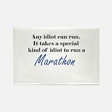 Idiot to run marathon Rectangle Magnet (10 pack)