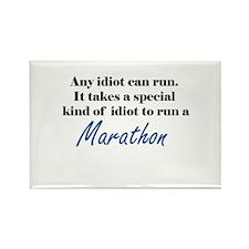 Idiot to run marathon Rectangle Magnet