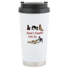 Santa's Naughty Line up Travel Coffee Mug