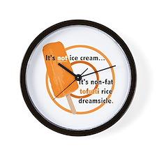 Tofutti Rice Dreamsicle Wall Clock