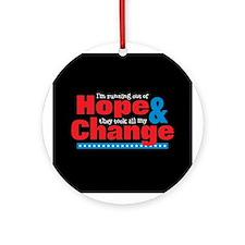 Hope & Change Ornament (Round)