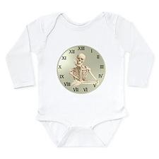 13 Hour Skeleton Clock Long Sleeve Infant Bodysuit