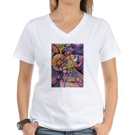 Huichol Eagle Women's V-Neck T-Shirt