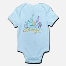 Chicago Stylized Skyline Infant Bodysuit