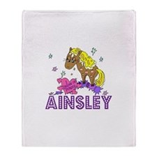 I Dream Of Ponies Ainsley Throw Blanket