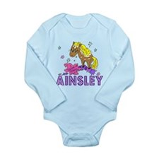 I Dream Of Ponies Ainsley Long Sleeve Infant Bodys