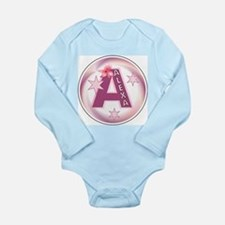 Alexa 1 inch Star Initial Long Sleeve Infant Bodys