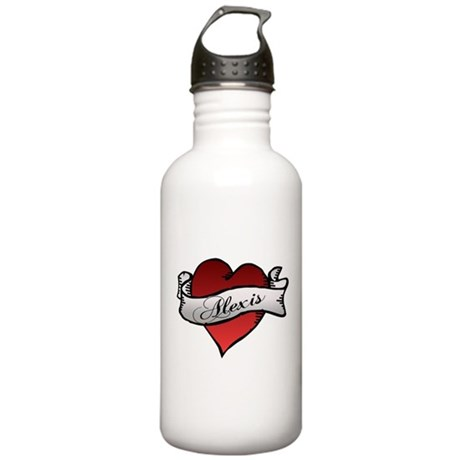Alexis Heart Tattoo Stainless Water Bottle 1.0L