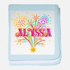 Sparkle Celebration Alyssa baby blanket