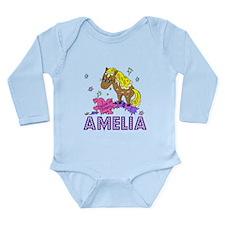 I Dream Of Ponies Amelia Long Sleeve Infant Bodysu