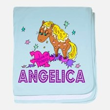 I Dream Of Ponies Angelica baby blanket