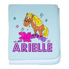 I Dream Of Ponies Arielle baby blanket