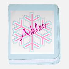 Ashlee Snowflake Personalized baby blanket