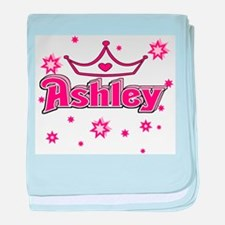 Ashley Princess Crown Star baby blanket