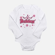 Ashley Princess Crown Star Long Sleeve Infant Body