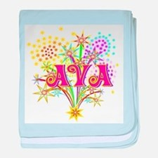 Sparkle Celebration Ava baby blanket