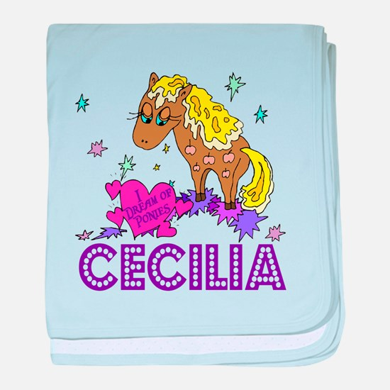 I Dream Of Ponies Cecilia baby blanket
