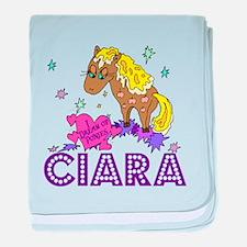 I Dream Of Ponies Ciara baby blanket