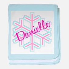 Danielle Snowflake Personaliz baby blanket