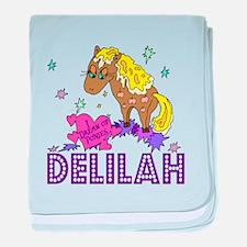 I Dream Of Ponies Delilah baby blanket