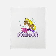 I Dream Of Ponies Dominique Throw Blanket