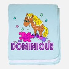 I Dream Of Ponies Dominique baby blanket