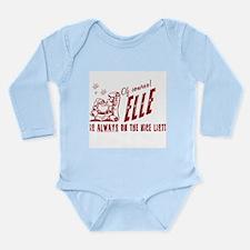 Nice List Elle Christmas Onesie Romper Suit