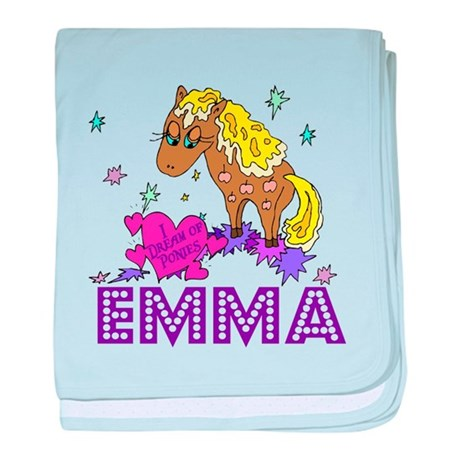I Dream Of Ponies Emma baby blanket