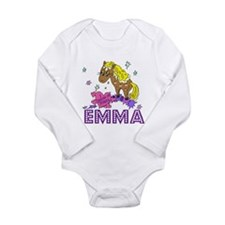 I Dream Of Ponies Emma Long Sleeve Infant Bodysuit