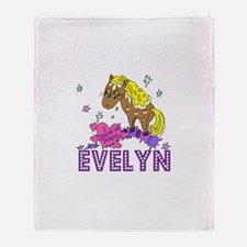 I Dream Of Ponies Evelyn Throw Blanket