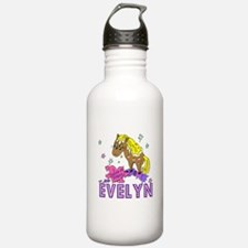 I Dream Of Ponies Evelyn Water Bottle