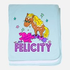 I Dream Of Ponies Felicity baby blanket